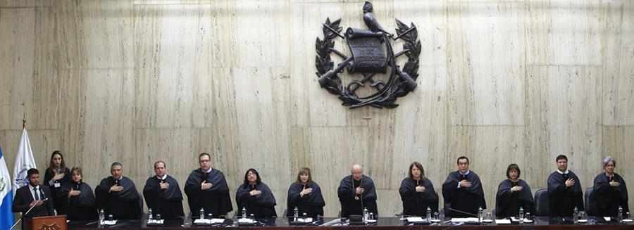 Los magistrados de la CSJ realizarán a puerta abierta el proceso de elección de su próximo presidente. (Foto Prensa Libre: Hemeroteca PL)