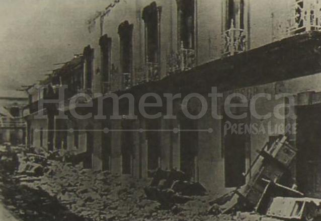 Restos de la mansión de la familia Aparicio, hoy sede de la Gobernación Departamental. (Foto: el Quetzalteco)