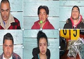 <p>PNC captura a personas que se les sindica de distribuir droga al menudeo y fomentar el estímulo a la drogadicción. (Foto Prensa Libre: PNC)<br></p>