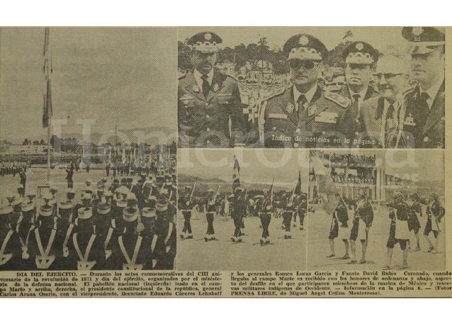 Aspectos del día del Ejército del año 1974. (Foto: Hemeroteca PL)