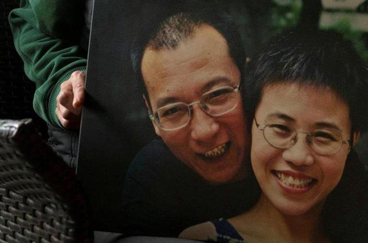 Foto del premio Nobel y su esposa Liu Xia. (Foto Prensa Libre: AP)