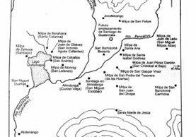 Milpas fundadas por los españoles alrededor del valle de Panchoy.