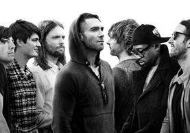 La banda estadounidense de pop rock realizará una presentación histórica en el país (Foto Prensa Libre: Maroon 5).