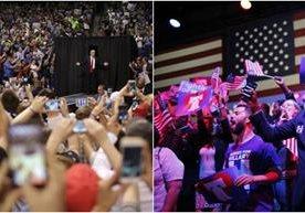 Donald Trump y Hillary Clinton se encaminan a la nominación.