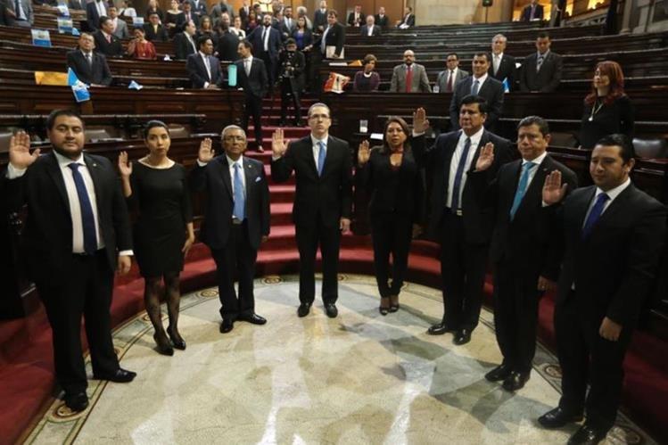 La alianza oficialista vuelve a ganar la junta directiva del Congreso de la República. (Foto Prensa Libre: Esbin García)