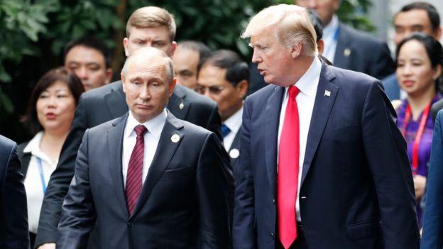 Trump asegura que Estados Unidos está perdiendo la ventaja que tenía respecto a Rusia y China. AFP