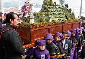 Procesión de la réplica de Jesús de la Preciosa Sangre, del templo de San Francisco, sale el tercer sábado de Cuaresma, junto con Jesús Flagelado de la Columna.