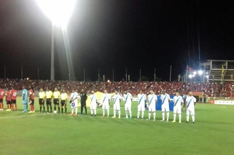Guatemala disputa un partido crucial frente a Trinidad y Tobago. (Foto Prensa Libre: Edwin Fajardo)