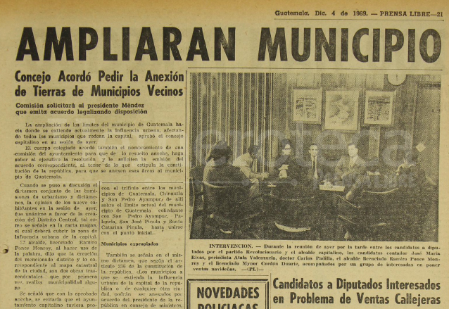 Nota periodística informando sobre la solicitud del concejo capitalino para ampliar los límites de la ciudad. (Foto: Hemeroteca PL)