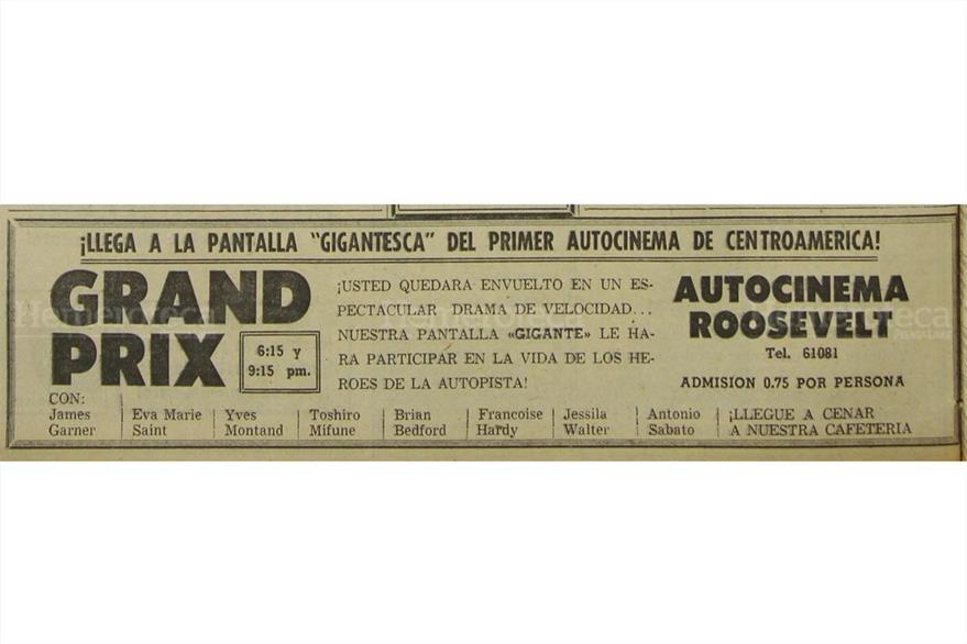 El 26 de octubre  de 1968  se estrena la pelicula  Gran Prix una historia en las pistas.(Foto: Hemeroteca PL)