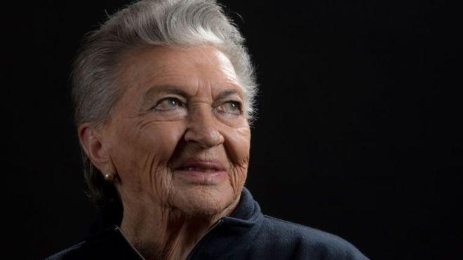 La piloto chilena Margot Duhalde murió el 5 de febrero de 2018 en Santiago de Chile, a los 97 años. AFP
