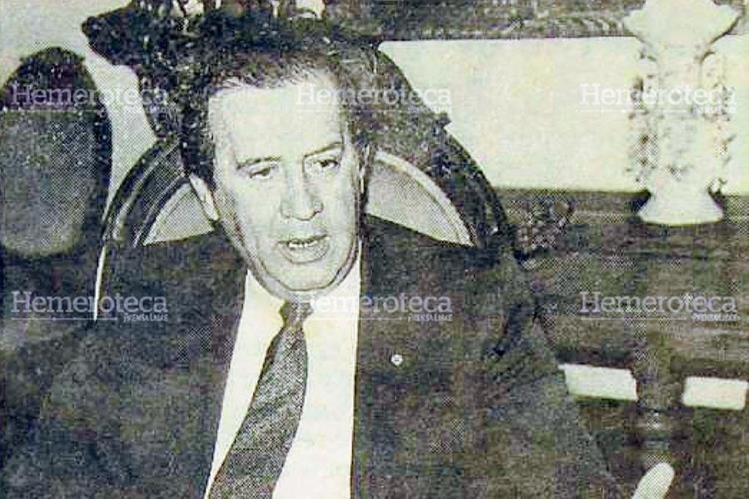 Jorge Carpio Nicolle compitió dos veces por la Presidencia: en 1985 y en 1990, con resultados fallidos. Murió asesinado el 3 de julio de 1993, en Quiché. (Foto: Hemeroteca PL)