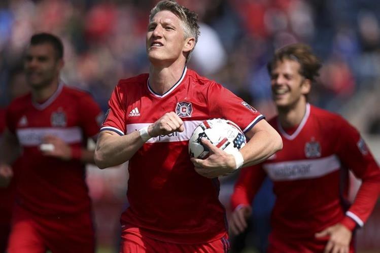El exjugador del Bayern Múnich, Schweinsteiger, se estrenó con gol en la MLS. (Foto Prensa Libre: AP)