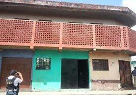 Vivienda en San Miguel Petapa, donde fue hallado un menor por las fuerzas de seguridad. (Foto Prensa Libre)