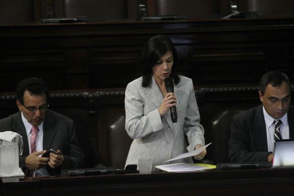 """<p>La ministra de Educación Cynthia Del Águila durante la interpelación en el Congreso (Foto Prensa Libre: Esbin García)<br _mce_bogus=""""1""""></p>"""