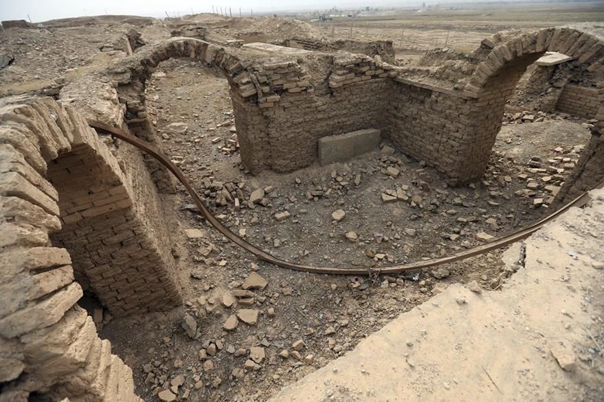 Muchos de los palacios reales fueron reducidos a escombros durante la ocupación de Isis. (Foto Prensa Libre: AFP)