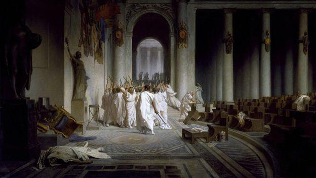 """""""La muerte de César"""", Jean-Léon Gérôme, 1867. DOMINIO PÚBLICO"""