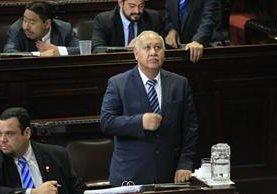 Continúa interpelación del ministro de comunicaciones, Aldo García. (Foto Prensa Libre: Esbin García)