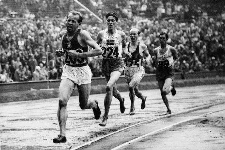 Emil Zatopek durante su participación en los Juegos Olímpicos de Londres 1948. (Foto: Hemeroteca PL)