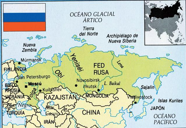 Disposición de la ex URSS en el mapamundi. (Foto: Hemeroteca PL)