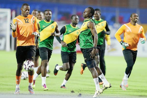 Los jugadores de la selección jamaicana apostarán a la velocidad en el duelo frente a Paraguay. (Foto Prensa Libre: EFE)