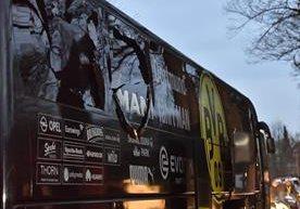 El bus del Borussia fue atacado con tres bombas.