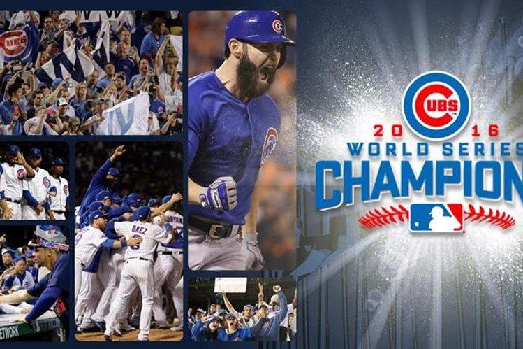Chicago ganó la última Serie Mundial del beisbol. (Foto Prensa Libre: Twitter Chicago)