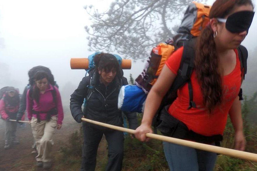 Expedición en el Volcán Tajumulco. (Foto Prensa Libre: Christian Rodríguez)