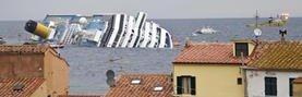 Vista del buque crucero Costa Concordia que naufragó el 13 de enero de 2012. (Foto: EFE)