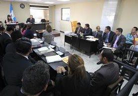 Audiencia en el Juzgado Sexto, donde se leyó el testimonio de Mario Orellana López. (Foto Prensa Libre: Hemeroteca PL)