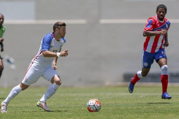 Paul Arriola anotó su primer gol con Estados Unidos. (Foto Prensa Libre: Twitter USSoccer)
