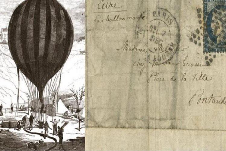 Carta enviada hace 145 años en globo desde París aparece en Australia.