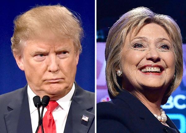Donald Trump y Hillary Clinton buscan dar las puntadas finales en Indiana. (AFP)