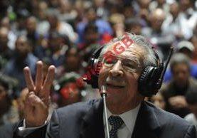 El exjefe de Estado de facto de 1982, José Efraín Ríos Montt, durante su juicio por cargos de genocidio. (Foto Prensa Libre: Hemeroteca PL)