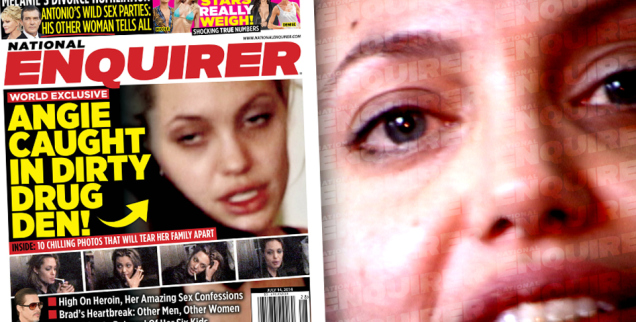 The National Enquirer asegura que Angelina Jolie padece de cáncer. (Foto Prensa Libre: National Enquirer)