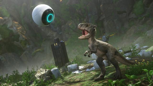Un  tiranosaurio y una esfera con inteligencia virtual son los aliados del protagonista. (Foto: Hemeroteca PL).