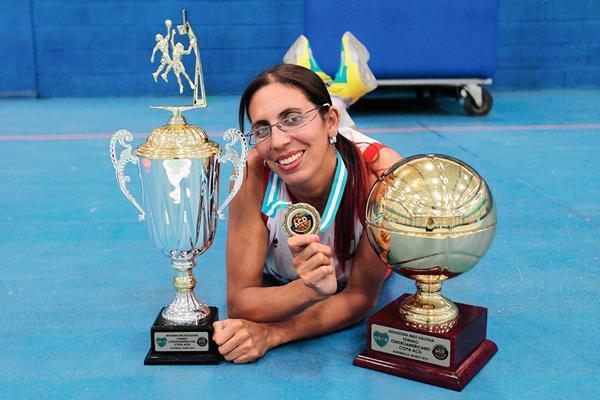 La Chochi fue considera la Jugadora Más Valiosa del recién pasado Torneo Centroamericano de Clubes Campeones. (Foto Prensa Libre: Marcela Morales).