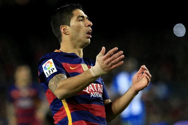 El Barcelona anunció que apelará la sanción a Luis Suárez. (Foto Prensa Libre: AFP)