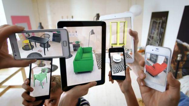La empresa sueca Ikea ya cuenta con una aplicación móvil que permite ver su catálogo en realidad aumentada. (IKEA)
