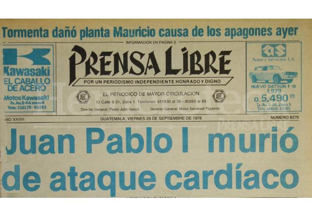 Titular de Prensa Libre del 29/09/2015. (Foto: Hemeroteca PL)