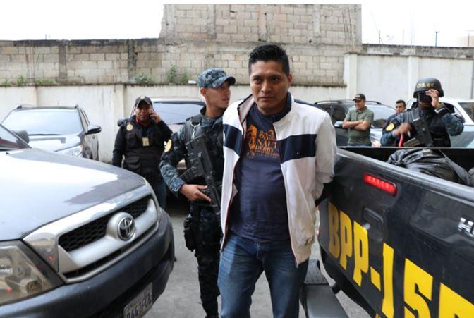 Nehemías Santizo, fue detenido el miércoles en Quetzaltenango. (Foto Prensa Libre: Whitmer Barrera)
