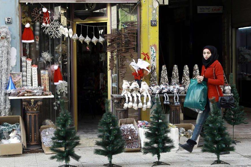 En Navidad será el primer aniversario de un mortífiero atentado terrorista en el barrio de Qamishli. (Foto Prensa Libre: AFP).