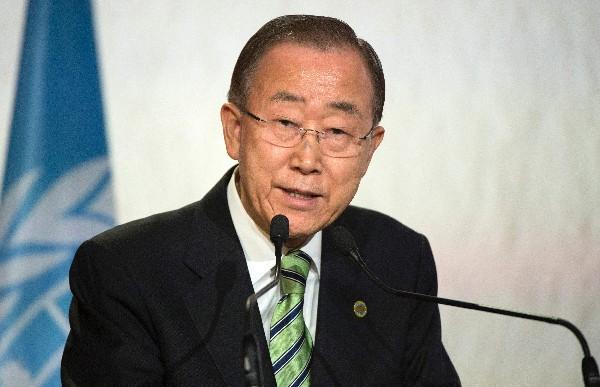 "Ban Ki-moon calificó como un ""paso significativo""  la resolución.(AFP)."