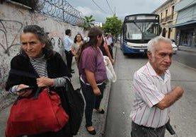 Transurbano limita el uso de las unidades a adulto mayor desde principios de mayo último. (Foto Prensa Libre: Hemeroteca PL)