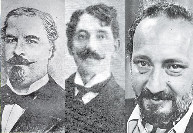 José Milla, Enrique Gómez Carrillo y Manuel José Arce, grandes de las letras chapinas influidos por París. (Foto: Hemeroteca PL)