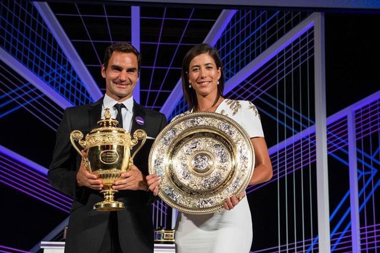 Los triunfos de Roger Federer y Garbiñe Muguruza fue favorable para mejorar su posición en el ranquin. (Foto Prensa Libre: AFP