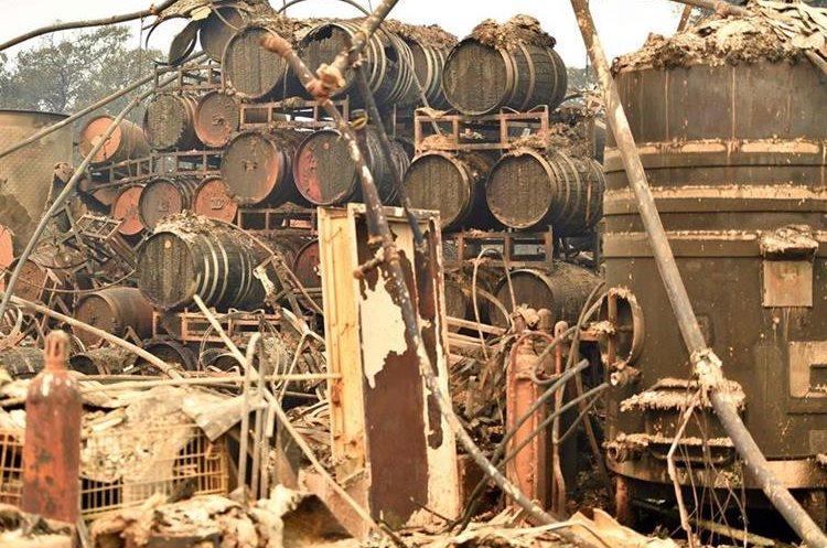 La industria del vino tardará años en recuperarse en California. (Foto Prensa Libre: AFP)