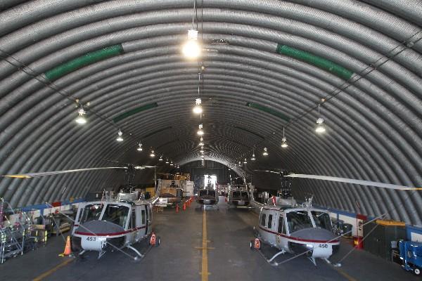 Los helicópteros a los que se les prestaron servicio. (Foto Prensa Libre: Hemeroteca PL)