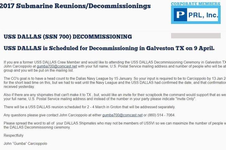 Carta que anuncia el retiro de servicio del submarino. (Foto Prensa Libre: www.navalsubleague.com)