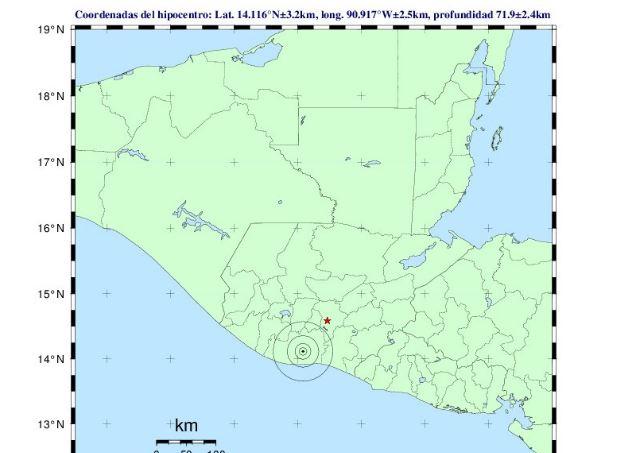 Temblor tuvo su epicentro en Escuintla. (Foto Prensa Libre: Insivumeh)